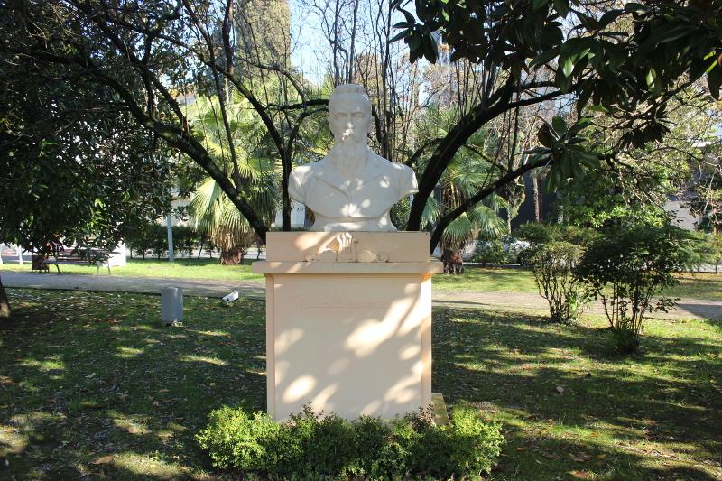 Парк имени М. В. Фрунзе в Сочи. Бюст Н. А. Римского Корсакова