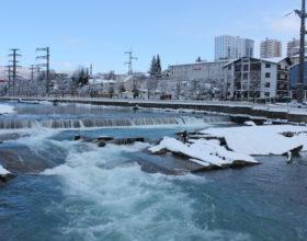 Зимняя рыбалка в Сочи на речке