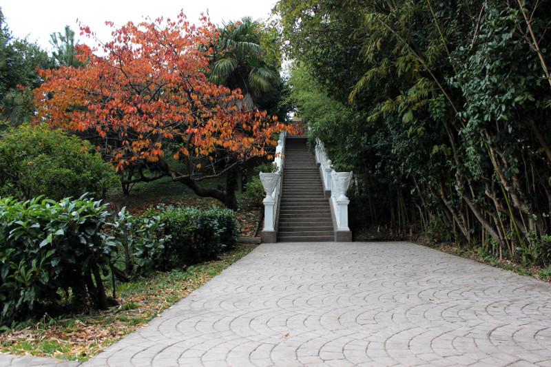 Лестница к центральному входу парка Южные культуры